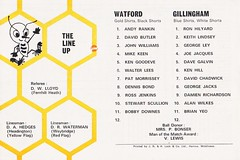 Watford vs Gillingham - 1974 - Back Cover Page (The Sky Strikers) Tags: watford gillingham official programme football league division three vicarage road 10p