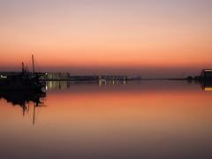 Morning reflection (dayonkaede) Tags: nature morning landscape river water sea gavel magichour morningburn sunset light orange building nightview olympus em1markii m12100mm f40