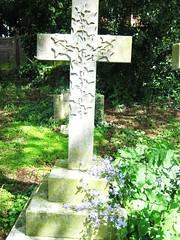 (belight7) Tags: churh yard grave cross purple flowers stone uk england life