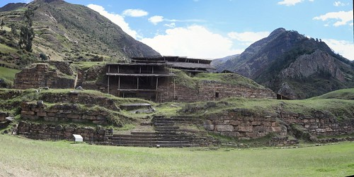 Panorama stitching Android app test : archeological site of Chavin de Huantar, Ancash, Peru