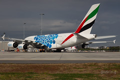 A6-EOC / Emirates / A380 / YBBN-BNE (Stirling Day) Tags: a6eoc airbusa380 aircraft emirates