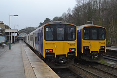 Northern Sprinter 150142 & 150138 (Will Swain) Tags: buxton station 6th january 2019 train trains rail railway railways transport travel uk britain vehicle vehicles england english europe peak district class 150 northern sprinter 150142 142 150138 138
