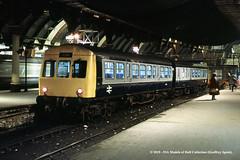 c.01/1985 - York. (53A Models) Tags: britishrail metcamm class101 dmcl e53149 dmu diesel passenger york train railway locomotive railroad