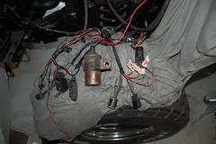 DSC_7325 (munich-cc) Tags: ford bronco restauration resto repair reparatur renew rework restore motor 351 351m v8 munich münchen cable kabel work workshop wiring harness isolation