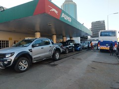 Long Gas Lines in Harare (Wayan Vota) Tags: gasoline rationing harare petrol zimbabwe fuel automobile car
