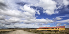 Patagonia, Chile (pas le matin) Tags: travel voyage patagonie patagonia world chili chile building bâtiment architecture landscape road route track piste yellow jaune bleu blue sky ciel clouds cloudy canon 5d canon5d canon5dmkiii canoneos5dmkiii eos5dmkiii 5dmkiii latinamerica southamerica