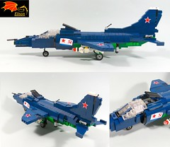 Yak-38 - Three views (Eínon) Tags: yak38 yakovlev interceptor fighter ground attack aircraft soviet union urss cccp cold war carrier kiev class lego russia