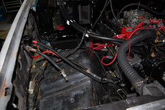 DSC_7330 (munich-cc) Tags: ford bronco restauration resto repair reparatur renew rework restore motor 351 351m v8 munich münchen cable kabel work workshop wiring harness isolation