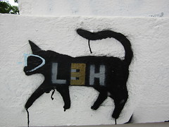 Cat on the prowl (wallygrom) Tags: england sussex eastsussex brighton westernroad mural graffiti streetart