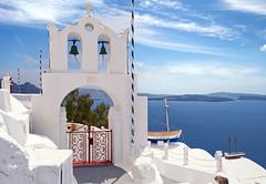Simply greek (Rob McC) Tags: santorini greece greek boat belltower oia landscape cityscape