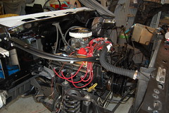 DSC_7321 (munich-cc) Tags: ford bronco restauration resto repair reparatur renew rework restore motor 351 351m v8 munich münchen cable kabel work workshop wiring harness isolation