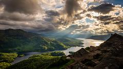 DSC_5392: Ben A'an, Trossachs, Scotland (Colin McIntosh) Tags: benaan d610 nikon trossachs ngc crepuscular rays