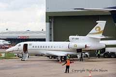 DASSAULT FALCON 900EX VT-ISH RELIANCE INDUSTRIES (shanairpic) Tags: bizjet corporatejet executivejet luton relianceindustries da900 falcon900 vtish