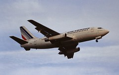 F-GBYF B737-200 Air France LHR 19-06-93 (cvtperson) Tags: fgbyf boeing 737200 air france london heathrow lhr egll