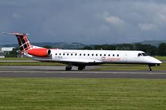 G-SAJL Loganair ERJ-145EP at Glasgow International Airport on 9 June 2019 (Zone 49 Photography) Tags: aircraft airliner aeroplane june 2019 glasgow scotland egpf gla abbotsinch airport ln log loganair embraer erj 145 erj145 145ep gsajl
