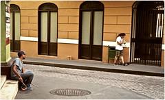 Músicos Callejeros (Street Musicians) (SamyColor) Tags: zeissikonikonta1950 zeiss fujisuperia200 musicos musicians musicoscallejeros streetmusicians sanjuan oldsanjuan viejosanjuan puertorico colorefexpro4 lightroom3