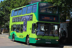 PL51 LDK, Victoria Road, Sandown, July 18th 2016 (Southsea_Matt) Tags: pl51ldk 1951 route8 goahead southernvectis plaxton president volvo b7tl victoriaroad sandown isleofwight england unitedkingdom canon 60d july 2016 summer bus omnibus vehicle passengertravel publictransport