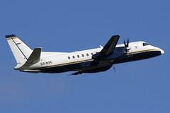 ES-NSC NyxAir Saab 340B at Glasgow International Airport on 9 June 2019 (Zone 49 Photography) Tags: aircraft airliner aeroplane june 2019 glasgow scotland egpf gla abbotsinch airport nyxair nyx ln log loganair saab 340 340b esnsc