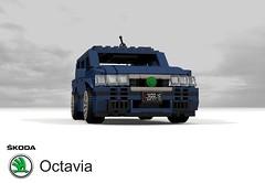 Skoda Octavia Estate 1U (1996) (lego911) Tags: skoda octavia 1u pq34 vag vw group volkswagen wagon 1996 1990s auto car moc model miniland lego lego911 ldd render cad povray estate czech republic