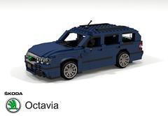 Skoda Octavia Estate 1U (1996) (lego911) Tags: skoda octavia 1u pq34 vag vw group volkswagen wagon 1996 1990s auto car moc model miniland lego lego911 ldd render cad povray estate czech republic foitsop