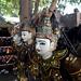 Puppet faces in Sagaing, Myanmar