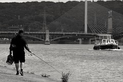 La Meuse (Liège 2019) (LiveFromLiege) Tags: noir et blanc noiretblanc noirblanc blancnoir bnw bw wb blackwhite blackandwhite whiteblack black white whiteandblack nb meuse pont de fragnée urbanfishing urban fishing pecheur pêche pêcher pêcheur fisher boat liège luik wallonie belgique architecture liege lüttich liegi lieja belgium europe city visitezliège visitliege belgien belgie belgio リエージュ льеж noietblanc bllackwhite blackandwhitephotography