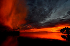 MajesticSunriise2Smaller (Rich Mayer Photography) Tags: trees sunset sky sun tree nature water wisconsin sunrise pretty skies sunny