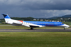 G-RJXE Loganair ERJ-145EP at Glasgow International Airport on 9 June 2019 (Zone 49 Photography) Tags: aircraft airliner aeroplane june 2019 glasgow scotland egpf gla abbotsinch airport ln log loganair embraer erj 145 erj145 145ep grjxe