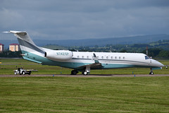 N742SP Embraer EMB-135BJ Legacy 650 at Glasgow International Airport on 9 June 2019 (Zone 49 Photography) Tags: aircraft bizjet biz jet aeroplane june 2019 glasgow scotland egpf gla abbotsinch airport embraer legacy 650 emb 135 emb135 135bj n742sp