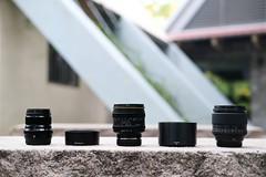 Kamlan 50mm f/1.1 II 、 50mm F/2 R WR、56mm F/1.2 APD體積比較(直出無調色) (Eternal-Ray) Tags: kamlan 50mm f11 ii xf 56mm f12 apd f2 r wr