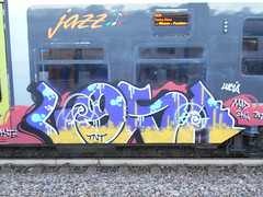 564 (en-ri) Tags: losa lucia mad sha nero giallo rosa viola train torino graffiti writing azzurro faccina smile