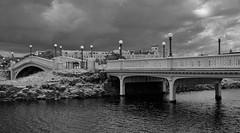Princes Park, Southport... (shushphoto) Tags: landscape water monochrome blackandwhite blackwhite lancashire holidayresort fyldecoast clouds