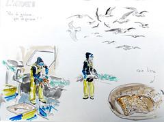 Lorient, pêche (dominiquerichard) Tags: dessin poisson pêche aquarelle