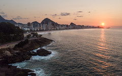 Leblon Sunrise (terrencechuapengqui) Tags: dji drone travel brazil rio de janerio beach sunrise