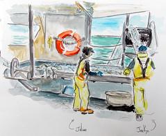 Lorient, pêche (dominiquerichard) Tags: pêche aquarelle