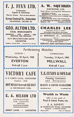 Leicester City vs Preston North End - 1955 - Page 2 (The Sky Strikers) Tags: leicester city preston north end pne football league division one official programme 4d