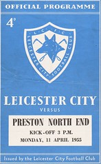 Leicester City vs Preston North End - 1955 - Cover Page (The Sky Strikers) Tags: leicester city preston north end pne football league division one official programme 4d