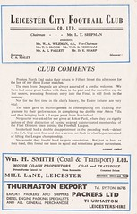 Leicester City vs Preston North End - 1955 - Page 3 (The Sky Strikers) Tags: leicester city preston north end pne football league division one official programme 4d