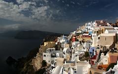 Blue Domes (HWHawerkamp) Tags: greece santorini oia city light mood blue travel citiscape