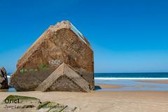 Capbreton (Oric1) Tags: blockhaus landes capbreton océan atlantique oric1 france ww2 wwii canon eos jeanlucmolle beach plage casemate blue sky sun béton