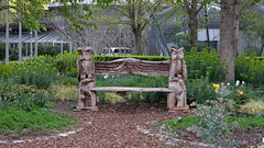 Wooden Owl Bench (crystalseas) Tags: bench wooden owl seat