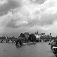 Storms over the Seine (csobie) Tags: bronicasqa 80mmf28ps mediumformat film analog 6x6 120 kodak tmax400 scan epson v600 paris france travel europe seine blackandwhite