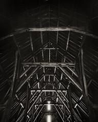 Great Coxwell Barn Roof 8x10 FP4+ º» (CactusD) Tags: chamonix 810v 8x10 10x8 largeformat large format movements film texture textures uk greatbritain great britain unitedkingdom united kingdom england oxfordshire greatcoxwellbarn coxwell oak wood details ilford fp4 nikkorsw150mmf8 nikkor 150mm f8 epson v850 silverfast pyrocathd btzs