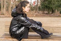 Black vinyl keeps her warm (22 pics) (sexyrainwear_dot_online) Tags: rainjacket raincoat regenjacke lack lackjacke vinyl pvc