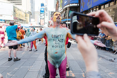 Protest against divisiveness -0195 (clickchick888) Tags: naked human connection arts nyc times square fun happy outside bodypainting protest against divisiveness hca andy golub purpose our existence positive message cool crazy newyorkcity timessquare humanartsconnection humanconnectionarts sunny bodypaint