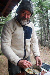 Being a father (RPahre) Tags: isleroyalenationalpark isleroyale backpacking rockharbor dinner pasta mushrooms selfie portrait cooking