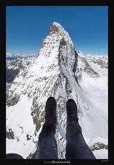 Photography flight around Mt. Cervino/Matterhorn (Ilan_Shacham) Tags: aerial snow mountains flight alps cervino matterhorn landscape view beauty italy switzerland winter chopper helicopter selfie legs