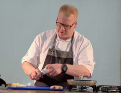 A demonstration from Head Tutor, Andrew Dixon of the The Cookery School at The Grand York - 2 (Tony Worrall) Tags: thecookeryschoolatthegrand cookeryschool thegrand thegrandyork demo stage event annual yorkfoodfestival2019 york food festival 2019 headtutor cook cookery chef make cooked display man north update place location uk england visit area attraction open stream tour country item greatbritain britain english british gb capture buy stock sell sale outside outdoors caught photo shoot shot picture captured ilobsterit instragram