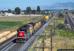 Well Powered Work Train (jamesbelmont) Tags: southernpacific unionpacific worktrain lakotajunction utah orem drgw riogrande train railroad railway locomotive