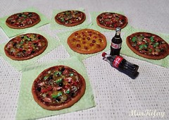 2 (MarKifay) Tags: soda drink pizza house miniature puppet 16 doll clay polymer food